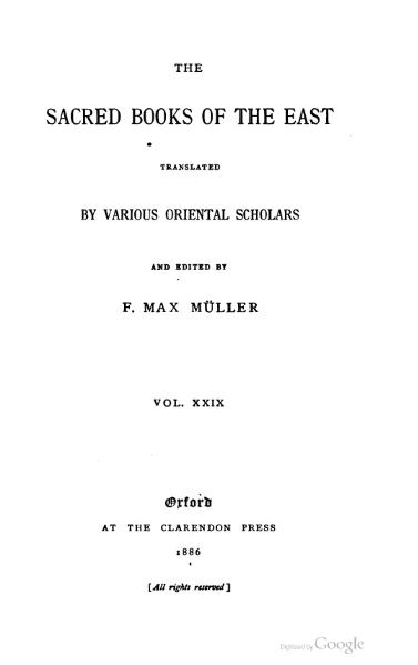 File:Sacred Books of the East - Volume 29.djvu