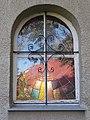 Sacred Heart chapel, window, 2018 Balatonlelle.jpg