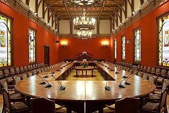 House of the Livonian Noble Corporation - Image: Saeimas Sarkanā zāle Flickr Saeima (1)