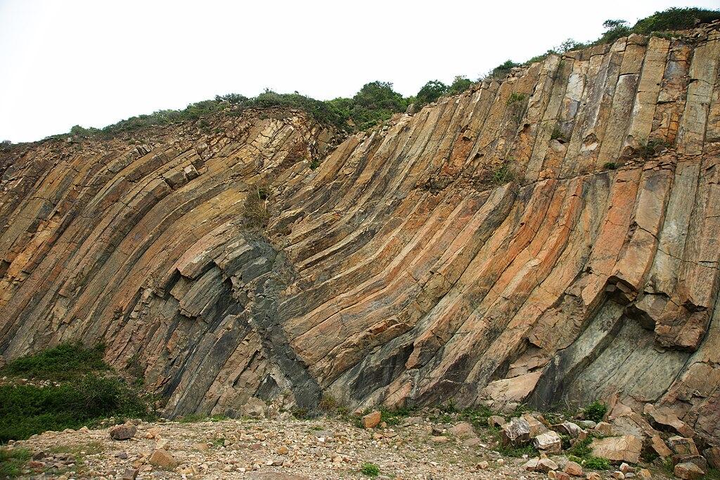 Sai-Kung folded rock