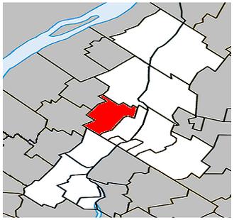 Saint-Mathieu-de-Beloeil, Quebec - Image: Saint Mathieu de Beloeil Quebec location diagram