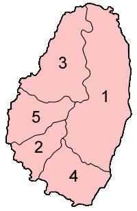 Saint Vincent parishes numbered