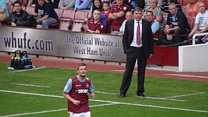 Sam Allardyce - Allardyce (right) as manager of West Ham United in 2011