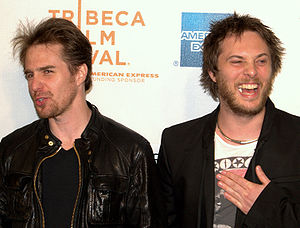 Moon (film) - Sam Rockwell and Duncan Jones at the 2009 Tribeca Film Festival screening