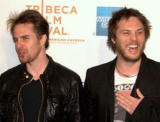 Moon (film) - Sam Rockwell and Duncan Jones at the 2009 Tribeca Film Festival screening