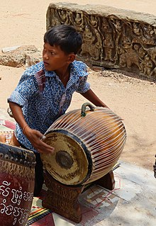 Samphor small barrel drum indigenous to Cambodia
