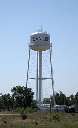 Water tower in San Jon