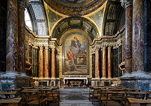 Cybo Chapel (Santa Maria del Popolo) - The chapel with the altarpiece of Carlo Maratta