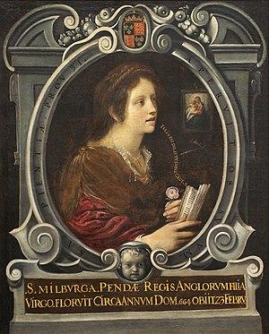 Mildburh - Santa Milburga, c. 1605, by Juan de Roelas