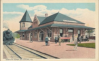 Galesburg station (Atchison, Topeka and Santa Fe Railway) - Image: Sante Fe Depot 1