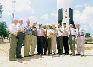 Ernst Stuhlinger - Saturn V dedication