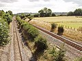 Saunderton Split - railway tracks diverge to pass a hill - geograph.org.uk - 36958.jpg