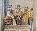 Scena di commedia, musici consultazione della fattucchiera, da villa di cicerone a pompei, 9987, 04.JPG