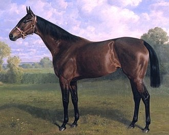 British Classic Races - Sceptre, the only outright winner of four classics, painted by Emil Adam