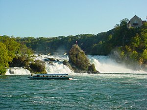 Schaffhausen - Rhine Falls as seen from Neuhausen am Rheinfall