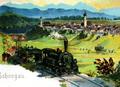 Schongau um 1900 von Norden mit Bahnstrecke nach Landsberg am Lech.png