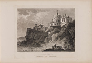 Culzean Castle - Etching of Culzean Castle by James Fittler from Scotia Depicta, published 1804
