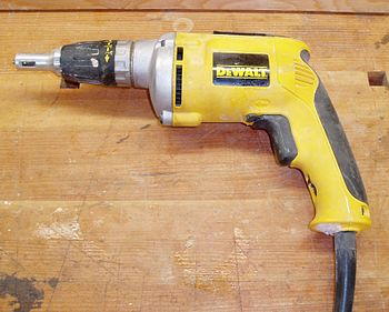 An electric screwgun used by drywall mechanics...