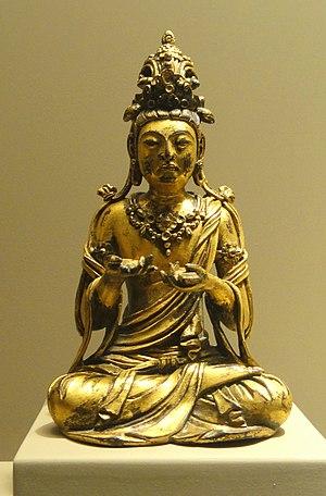 Prajñā (Buddhism) - Mañjuśrī, the bodhisattva of wisdom. China, 9th–10th century