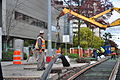 Seattle - laying trolley tracks on Broadway at James 12.jpg