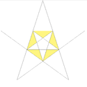 Second stellation of dodecahedron facets