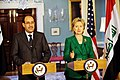 Secretary Clinton Holds Bilarteral Meeting with Iraqi Prime Minister (3764262268).jpg