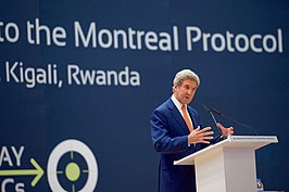 VS-buitenlandminister John Kerry op een vervolgsessie (2016)