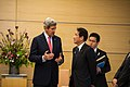 Secretary Kerry Talks with Japan's Foreign Minister Kishida Before His Meeting with Prime Minister Abe (8651989468).jpg