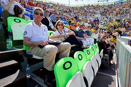 Secretary Kerry and U.S. Ambassador Ayalde Watch An Olympic Beach Volleyball Game (28773461196).jpg