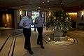 Secretary of Defense Chuck Hagel walks with Mark Lippert, his chief of staff.jpg