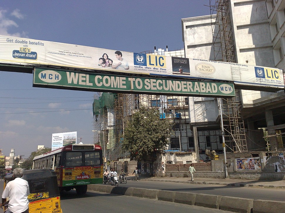 Secunderabad Welcome Sign