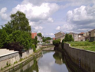 Der Fluss in Vic-sur-Seille