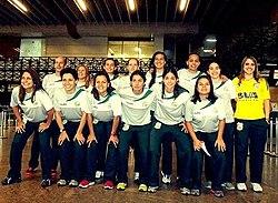 Seleção Brasileira de Futebol de Salão Feminino campeã do pré-mundial  realizado na Venezuela em 2012. 13fae08d25439