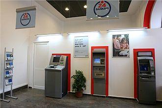 Banca Comercială Română - Self-bank area within a BCR branch