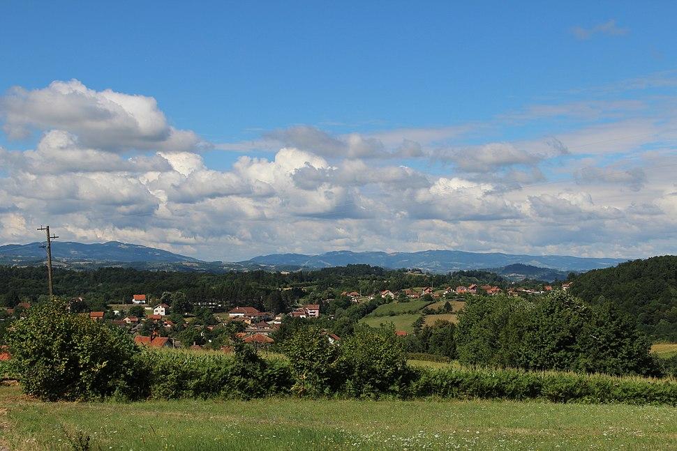 Selo Valjevska Kamenica - opština Valjevo - zapadna Srbija - panorama 3