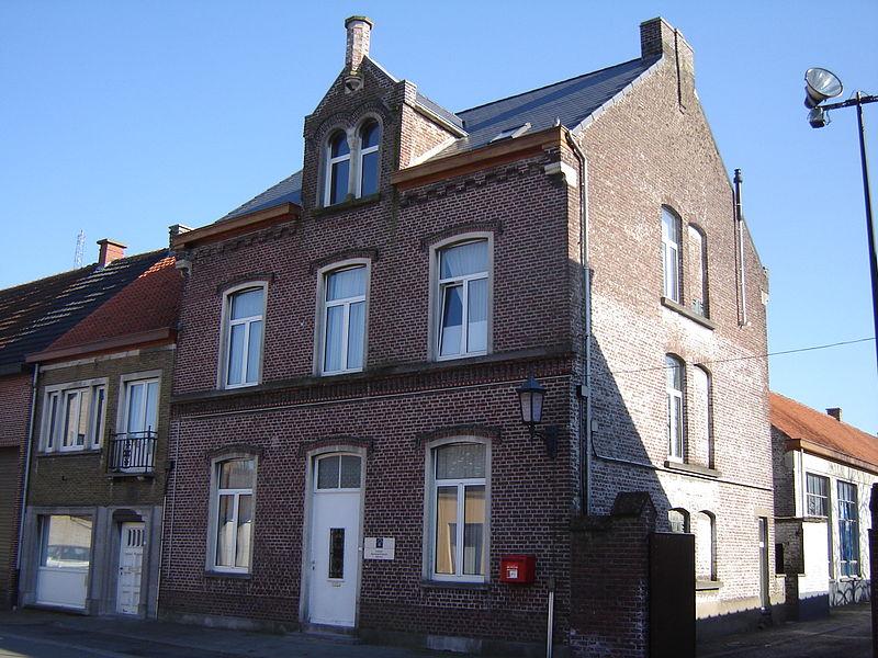 Former schoolmaster's house in Semmerzake. Semmerzake, Gavere, East Flanders, Belgium