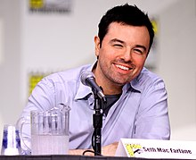 Seth McFarlane på San Diego Comic-Con International juli 2011.