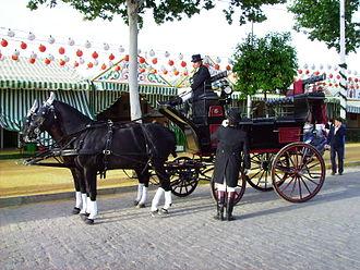 Seville Fair - Carriage at the Seville's April Fair