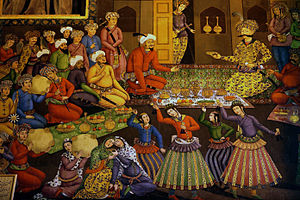 Abbas I of Persia - Shah Abbas I and his court.
