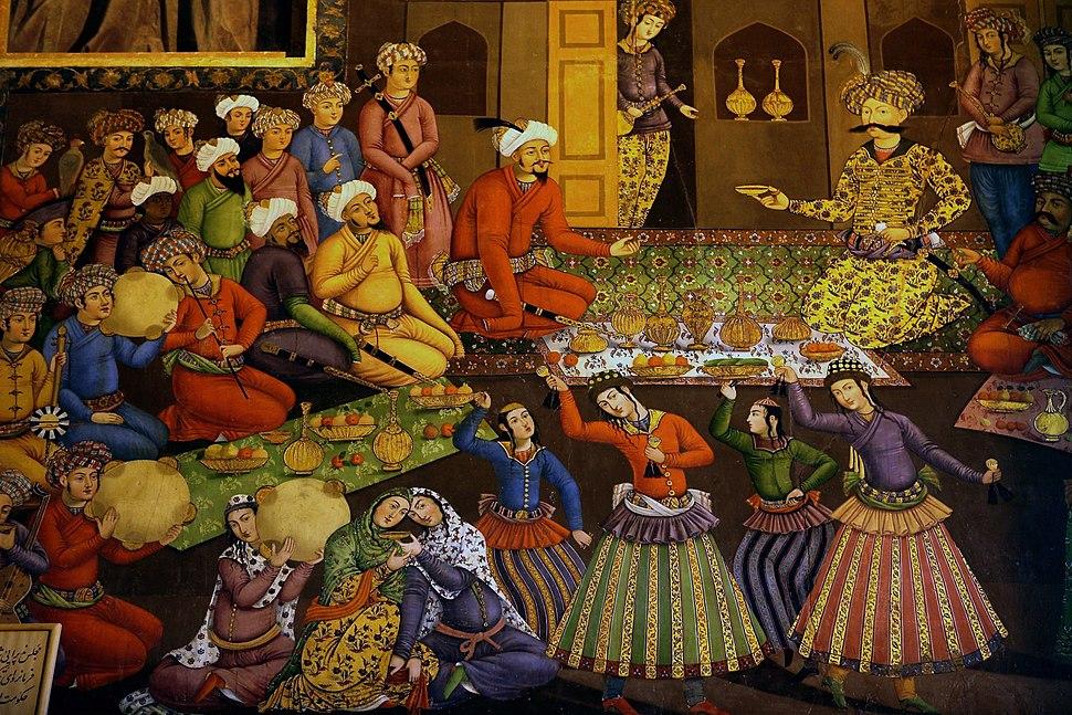 Shah Abbas I and Vali Muhammad Khan
