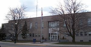 Shawano County Courthouse, built mid-1950s