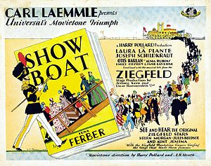 Show Boat (1929 film) - Lobby card