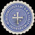 Siegelmarke Bürgermeisteramt der K. bayer. Stadt Deidesheim W0385131.jpg