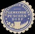 Siegelmarke Gemeinde Puschendorf K. Bayern W0392401.jpg