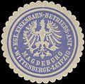 Siegelmarke K. Eisenbahn-Betriebs-Amt-Wittenberge-Leipzig-Magdeburg W0345745.jpg