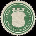 Siegelmarke Stadt Auras-Oder Kreis Wohlau W0383984.jpg