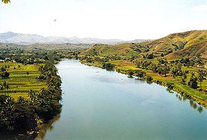 Sigatoka River, Viti Levu, Fiji. עברית: נהר סי...