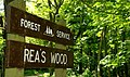Sign, Rea's Wood, Antrim - geograph.org.uk - 802883.jpg