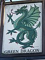 Sign for the Green Dragon, Brook - geograph.org.uk - 1105619.jpg