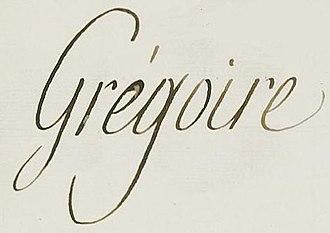 Henri Grégoire - Image: Signature Henri Grégoire (1750 1831)
